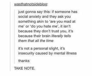 anxiety, quote, and tumblr image