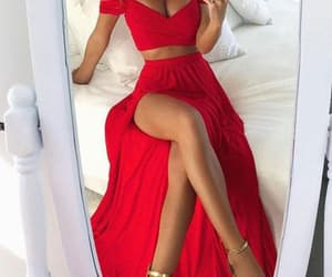 cheap prom dresses, chiffon prom dresses, and prom dresses red image