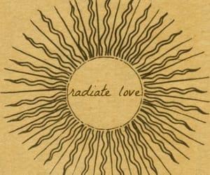 love, sun, and radiate image