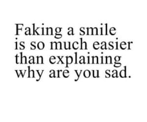 sad, fake, and smile image