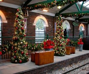 christmas balls, christmas decoration, and christmas tree image