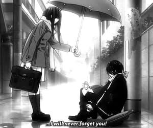 anime, black&white, and romance image