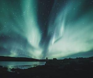 aurora, lights, and northern lights image