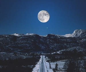 moon, occulture, and mountains image