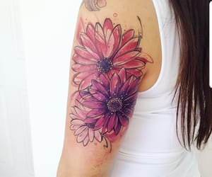 tattoo, colors, and flowers image