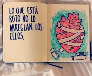 book, heart, and celos image
