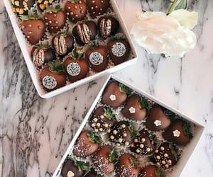 box, chocolate, and food image