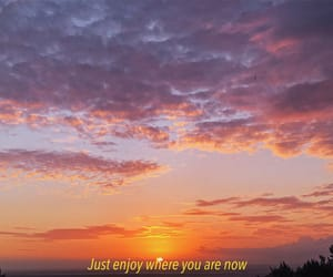 quote, sunset, and sky image