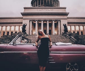 architecture, car, and girl image