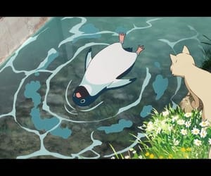 anime, film, and water image