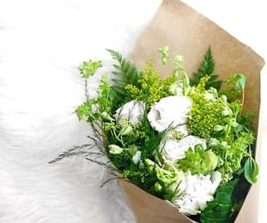 flowers, green, and bouquet image