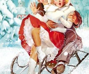 art, christmas, and cold image