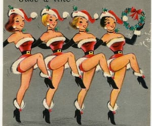 art, christmas, and retro image