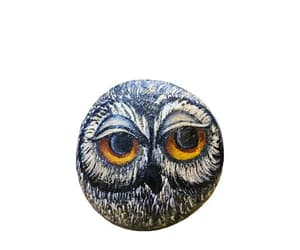 shopping, home decor, and owl stone art image