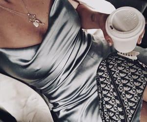coffee, dress, and fashion image