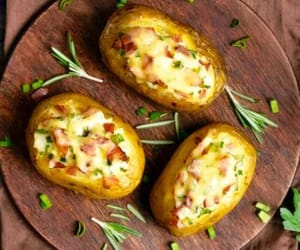 cheese, food, and potatoes image