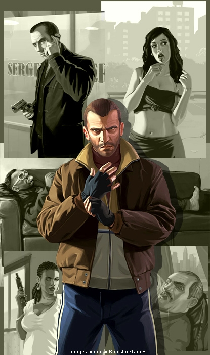 gta iv, illustration, and niko image