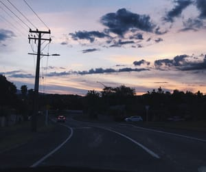 drive, summer, and sunset image