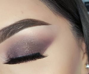 makeup, eyeshadow, and lashes image