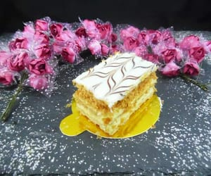 dessert, sweet, and millefeuille image