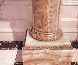gold, marble, and pastel image