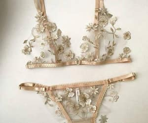 flowers, girly, and lingerie image