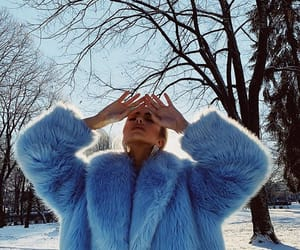 snow, blue, and fashion image
