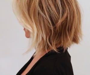 hair, blonde, and bob image
