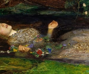 ophelia, paint, and painting image