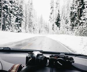 snow, winter, and camera image