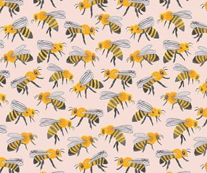 bee, wallpaper, and pattern image