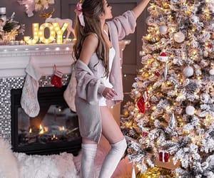 christmas, girl, and joy image