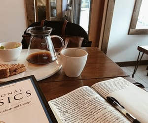 atmosphere, books, and coffee image