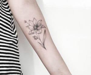 flower, beautiful, and tattoo image