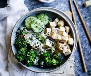 food, tofu, and satay image
