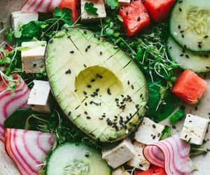 avocado, food, and healthy image