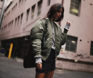 blogger, look, and bomber image