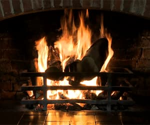 cozy, fireplace, and fire image