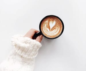 coffee, white, and latte image