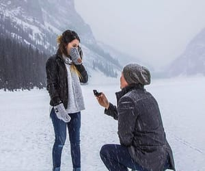 love, winter, and snow image