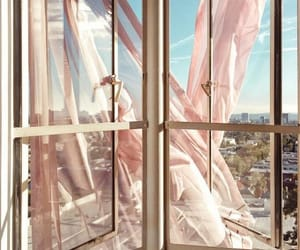 pink, window, and aesthetic image