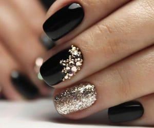 nails, beauty, and black image