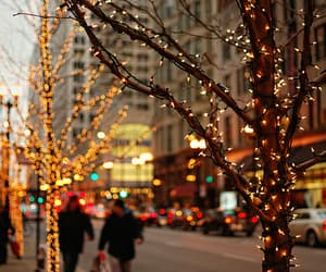 winter, winter city, and christmas image