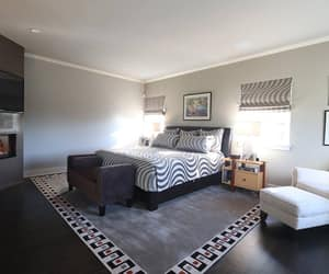 guest bedroom and custom rug image