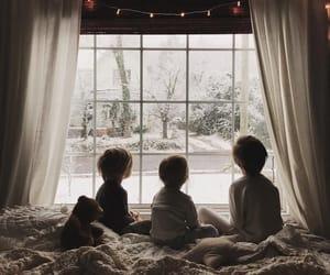 christmas, kids, and snow image