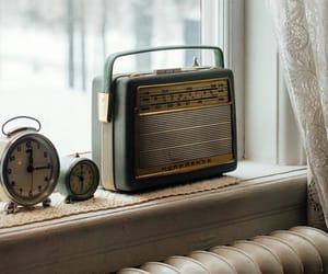 vintage, radio, and white image