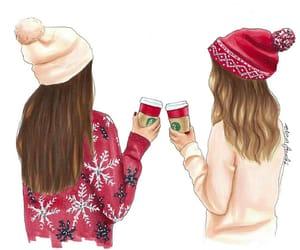 fashion illustration, natal, and navidad image