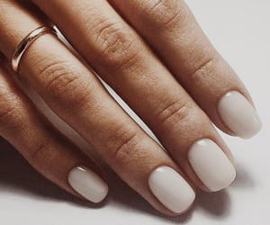 nails, manicure, and white image