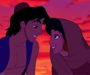 1992, jasmine gif, and aladdin image