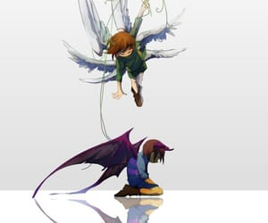 art, chara, and frisk image